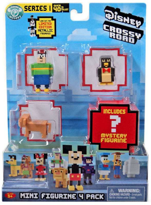 Crossy Road Disney Series 1 Pete, Wheezy, Nala & Mystery Figure Mini Figure 4-Pack