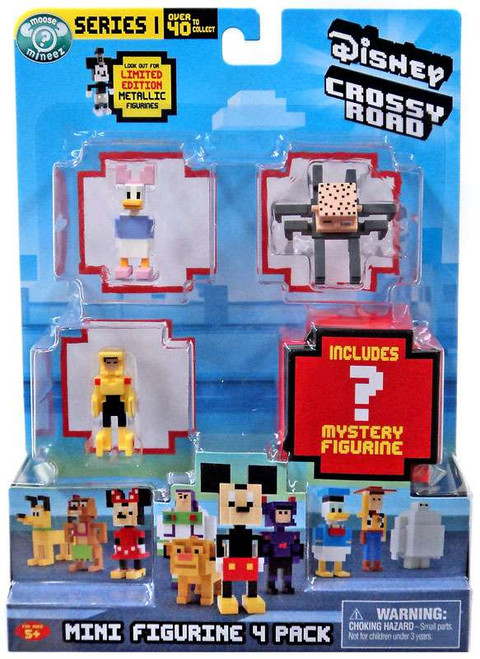 Crossy Road Disney Series 1 Daisy, Go Go Tomago, Babyhead & Mystery Figure Mini Figure 4-Pack