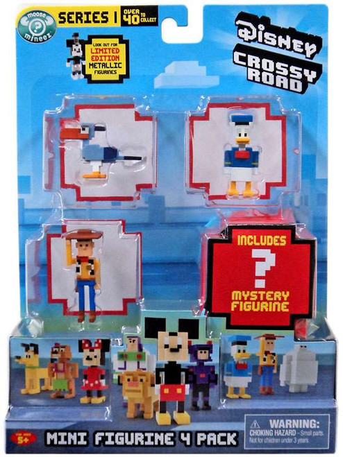 Crossy Road Disney Series 1 Zazu, Donald, Woody & Mystery Figure Mini Figure 4-Pack