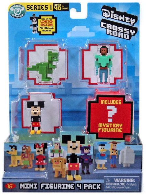 Crossy Road Disney Series 1 Rex, Wasabi, Mickey & Mystery Figure Mini Figure 4-Pack