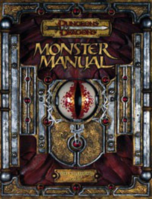 Dungeons & Dragons D&D 3rd Edition Monster Manual Core Rulebook III Roleplaying Book [v3.5]