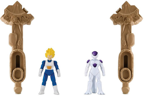 Dragon Ball Super Spin Battlers Series 1 Super Saiyan Vegeta Vs. Frieza Action Figure 2-Pack