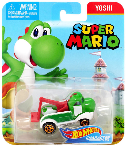 Hot Wheels Super Mario Character Cars Yoshi Diecast Car