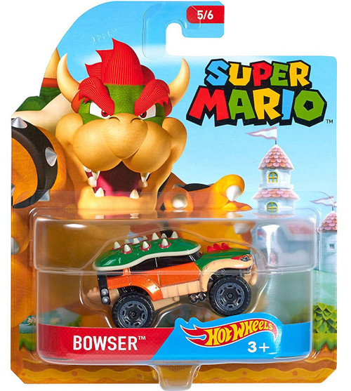 Hot Wheels Super Mario Character Cars Bowser Diecast Car #5/6