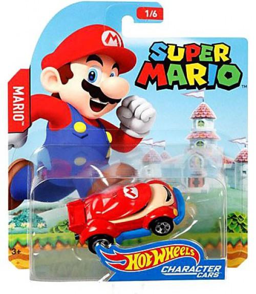 Hot Wheels Super Mario Mario Diecast Car