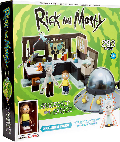 McFarlane Toys Rick & Morty Spaceship & Garage Large Construction Set