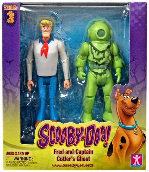 Scooby Doo Series 3 Fred & Captain Cutler's Ghost Action Figure 2-Pack