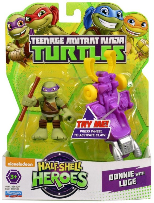 Teenage Mutant Ninja Turtles TMNT Half Shell Heroes Donnie with Luge Action Figure