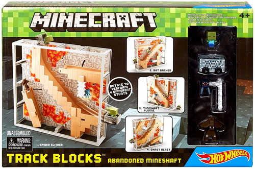 Hot Wheels Minecraft Abandoned Mineshaft Track Blocks Set