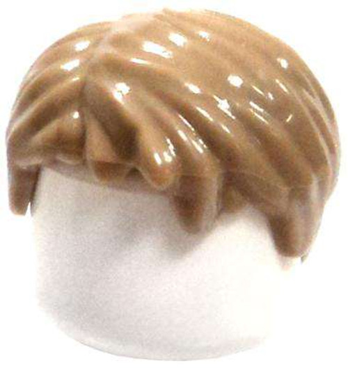 LEGO Dark Tan Short and Tousled with Side Part Loose Hair [Loose]