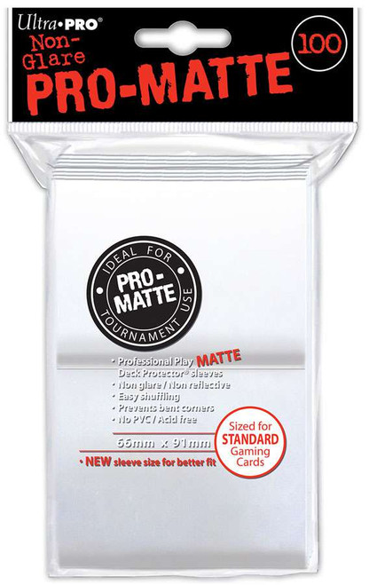 Ultra Pro Card Supplies Non-Glare Pro-Matte White Standard Card Sleeves [100 Sleeves]