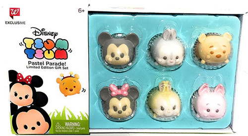 Disney Tsum Tsum Pastel Parade Mickey, Minnie, Thumper, Miss Bunny, Piglet & Winnie the Pooh Gift Set Exclusive 1-Inch Mini Figure 6-Pack