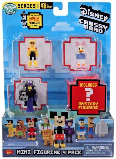 Crossy Road Disney Go Go Tomago, Diasy, Zurg & Mystery Figure Mini Figure 4-Pack