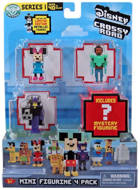 Crossy Road Disney Minnie, Wasabi, Zurg & Mystery Figure Mini Figure 4-Pack