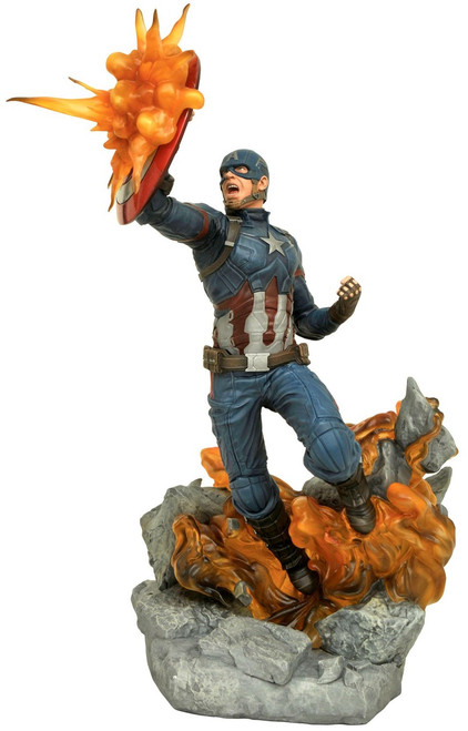 Marvel Civil War Milestones Captain America 12-Inch Statue