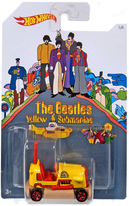Hot Wheels The Beatles Yellow Submarine 50th Anniversary Bump Around Die-Cast Car #1/6