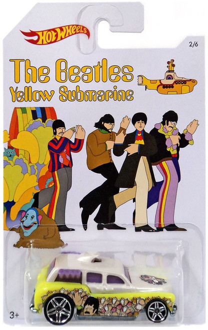 Hot Wheels The Beatles Yellow Submarine 50th Anniversary Cockney Cab II Diecast Car #2/6