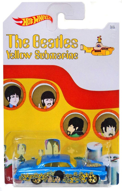 Hot Wheels The Beatles Yellow Submarine 50th Anniversary Fish N Chip'D Diecast Car #3/6