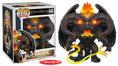 Funko Lord of the Rings POP! Movies Balrog 6-Inch Vinyl Figure #448 [Super-Sized]