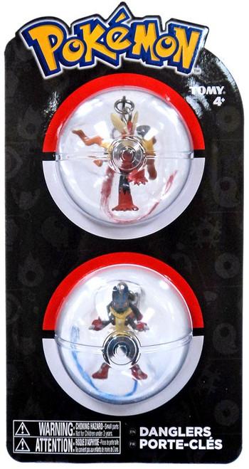 Pokemon Danglers Mega Blaziken & Lucario 3-Inch Dangler 2-Pack