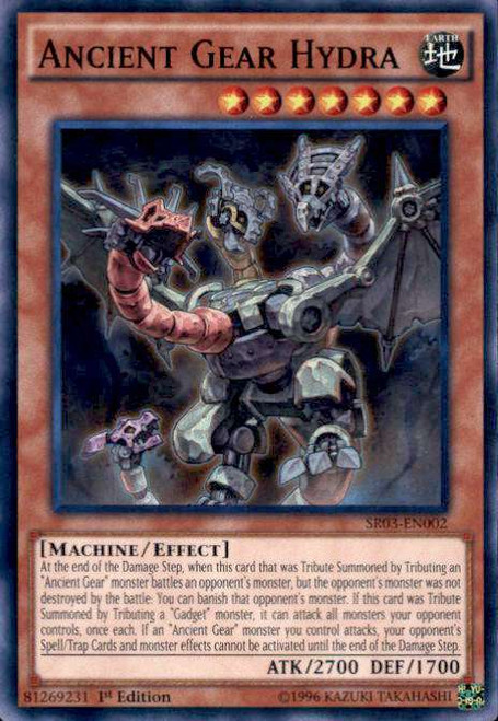 YuGiOh Machine Reactor Structure Deck Super Rare Ancient Gear Hydra SR03-EN002