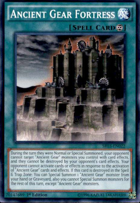 YuGiOh Machine Reactor Structure Deck Common Ancient Gear Fortress SR03-EN022