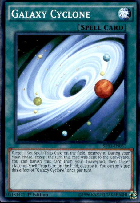 YuGiOh Machine Reactor Structure Deck Common Galaxy Cyclone SR03-EN031