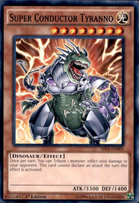 YuGiOh Dinosmasher's Fury Structure Deck Common Super Conductor Tyranno SR04-EN005