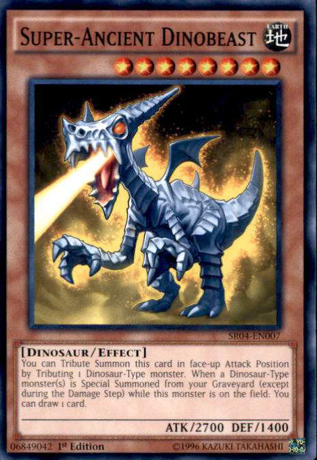 YuGiOh Dinosmasher's Fury Structure Deck Common Super-Ancient Dinobeast SR04-EN007