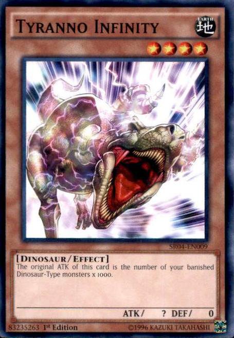YuGiOh Dinosmasher's Fury Structure Deck Common Tyranno Infinity SR04-EN009