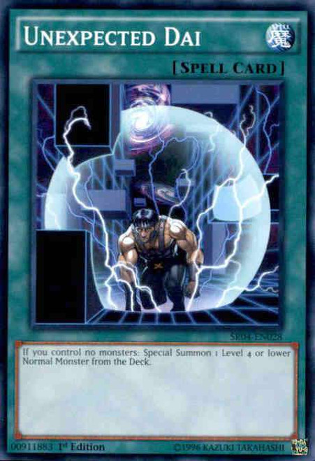 YuGiOh Dinosmasher's Fury Structure Deck Common Unexpected Dai SR04-EN028