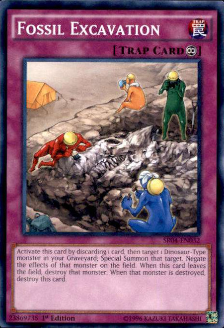 YuGiOh Dinosmasher's Fury Structure Deck Common Fossil Excavation SR04-EN032