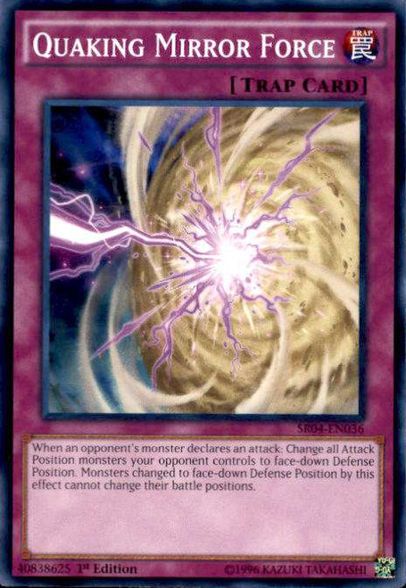 YuGiOh Dinosmasher's Fury Structure Deck Common Quaking Mirror Force SR04-EN036