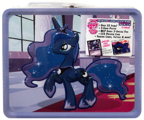 My Little Pony Friendship is Magic Trading Cards Princess Luna Nightmare Moon Tin Lunch Box