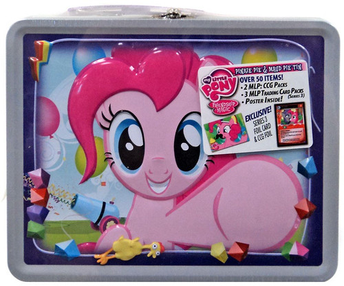 My Little Pony Friendship is Magic Trading Cards Pinkie Pie & Maud Pie Tin Lunch Box