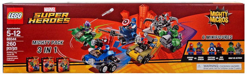 LEGO Marvel Super Heroes Mighty Micros Mighty Pack 3 in 1 Set #66544 [76064, 76065 & 76066]