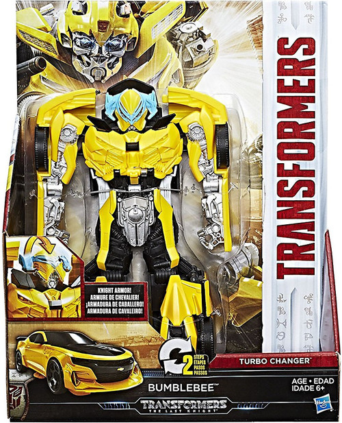 Transformers The Last Knight 2 Step Turbo Changer Bumblebee Action Figure