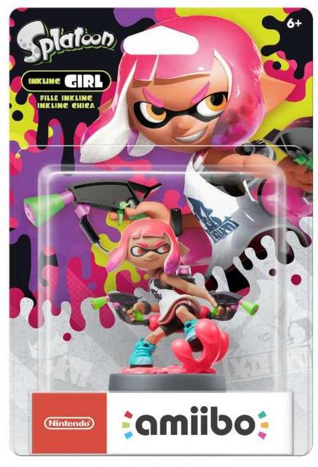 Nintendo Splatoon Amiibo Inkling Girl Mini Figure [Neon Pink]