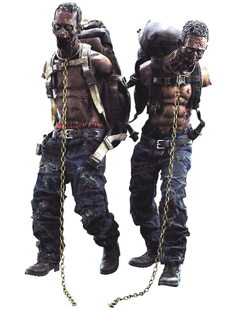 The Walking Dead Michonne Pet Walkers Action Figure 2-Pack