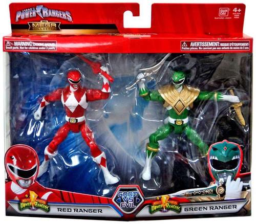 Power Rangers Mighty Morphin Good Vs. Evil Red Ranger & Green Ranger Action Figure 2-Pack
