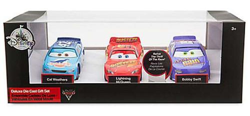 Disney / Pixar Cars Cars 3 Lightning McQueen, Carl Weathers & Bobby Swift Exclusive Diecast Car 3-Pack Set