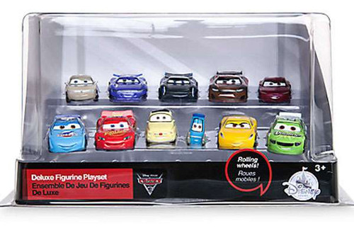 Disney / Pixar Cars Cars 3 Exclusive 11-Piece Deluxe PVC Figure Playset