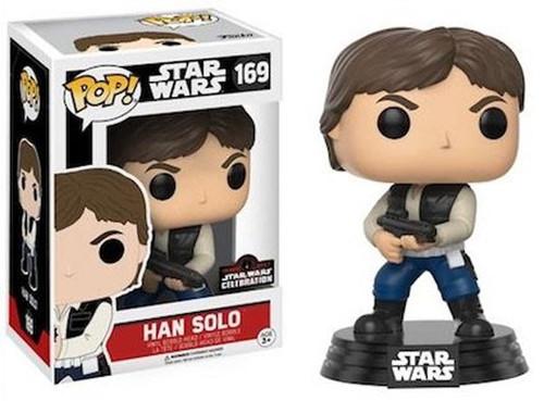 Funko POP! Star Wars Han Solo Exclusive Vinyl Bobble Head #169 [With Gun]
