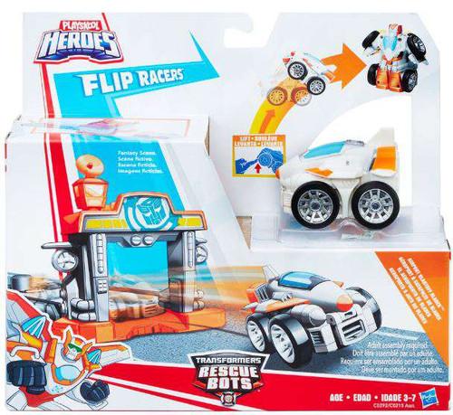 Transformers Playskool Heroes Rescue Bots Airport Blastoff Blades Action Figure Launcher [Flip Racers]