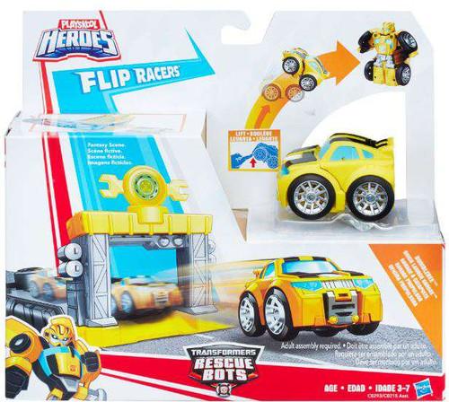 Transformers Playskool Heroes Rescue Bots Bumblebee Quick Launch Garage Action Figure Launcher [Flip Racers]