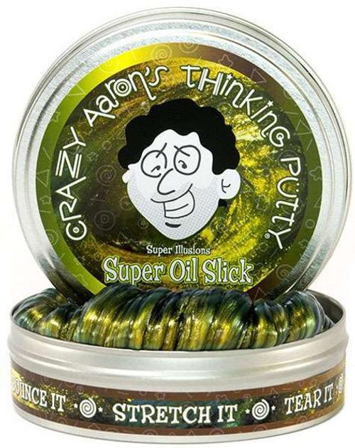 Crazy Aaron's Thinking Putty Mini Tins Super Oil Slick 2-Inch