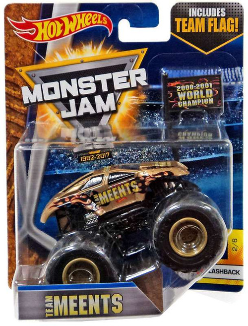Hot Wheels Monster Jam 25 Team Meents Die-Cast Car #2/6 [Flashback]