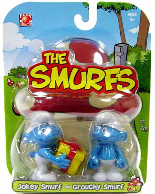 Smurfs Jokey & Grouchy 2-Inch Mini Figure 2-Pack