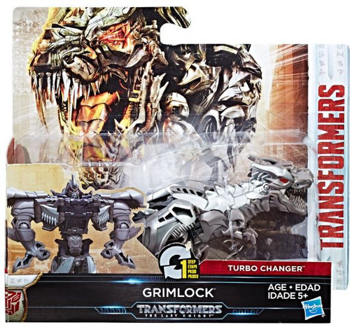 Transformers The Last Knight 1 Step Turbo Changer Grimlock Action Figure