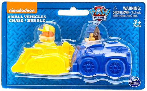 Paw Patrol Small Vehicles Chase & Rubble Figure